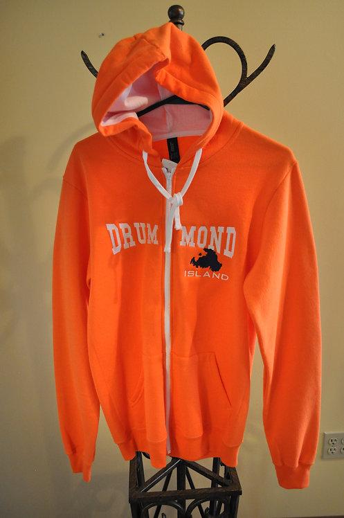 Full zip orange hoodie -C8106