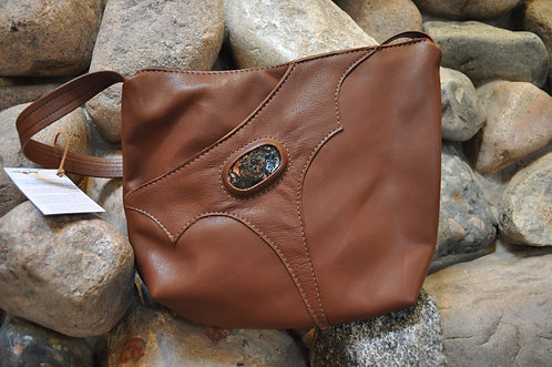 Handcrafted Leather Bags - style 6 Tan