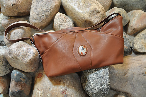 Handcrafted Leather Bags - style 7 tan