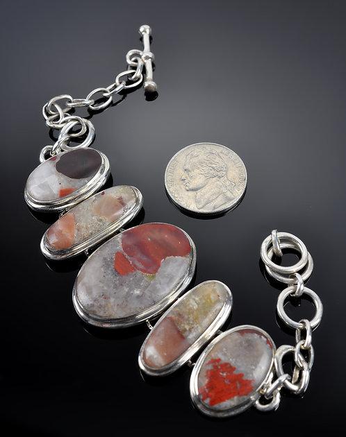 Puddingstone Large Stone Bracelet -N1110