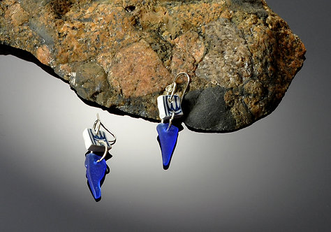 North Haven Gifts-Sea Glass/Pottery Earrings- 410