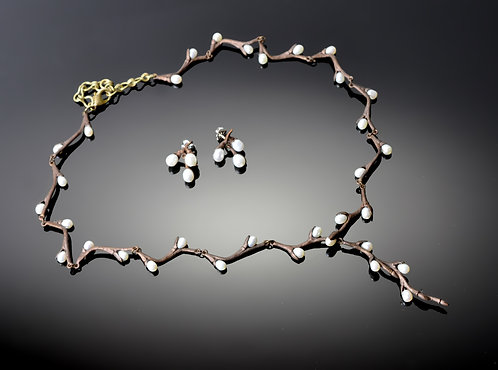 Botanical Jewelry- Pussywillow Necklace or Earrings