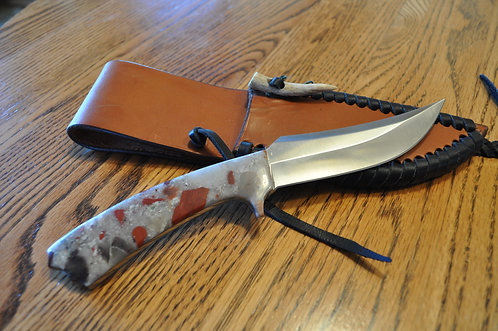 Puddingstone Fixed Blade Swoop Knife-PK01