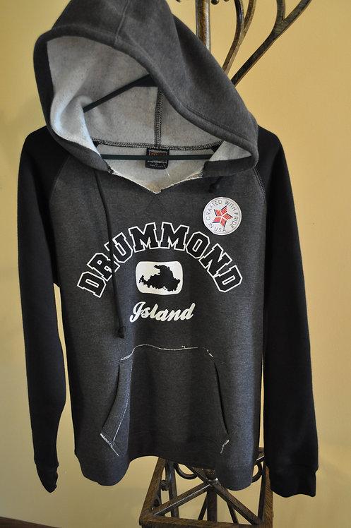 Two tone raglan pullover hoodie - TP03