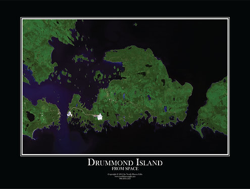 Drummond Island from Space Print-502