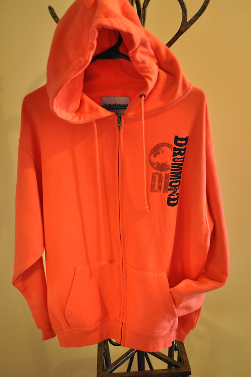 Full zip orange hoodie - C8113
