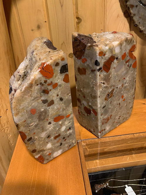 Drummond Puddingstone Bookends-BP1001