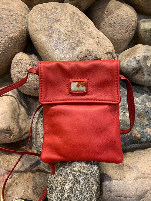 Handcrafted Leather Bags - style small red