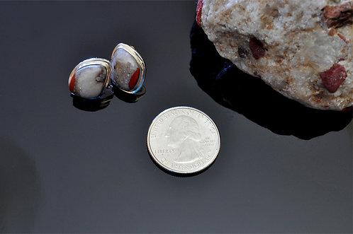 Small Puddingstone  Earrings -J8538