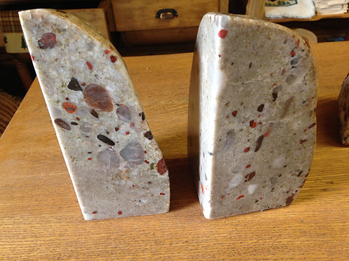 Drummond Island Puddingstone Bookends-011