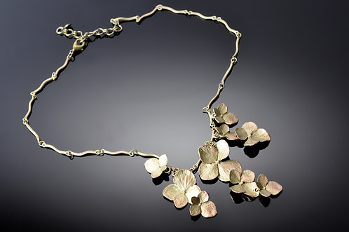 Botanical Jewelry- Hydrangea Necklace or Earrings