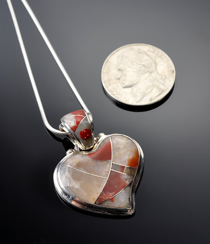 Puddingstone Pendant swoop right-N1040
