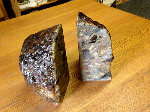 Drummond Island Puddingstone Bookends-014
