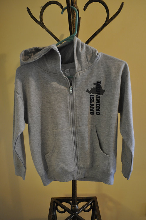 Youth Grey Full Zip Hoodie -AB171