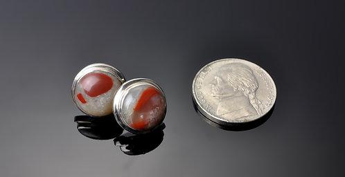 Small Puddingstone  Earrings -N067