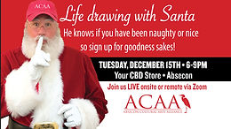 ACAA Presents a Ho Ho Holiday Life Drawing Session
