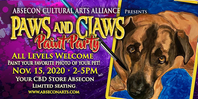 ACAA Presents Paws And Claws Paint Party