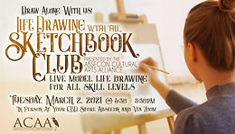 ACAA Presents Life Drawing With The Sketchbook Club