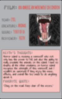 An American Werewolf in London horror movie