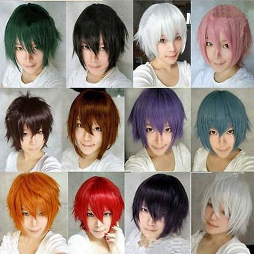 Short Wavy Anime Cosplay Costume Wig