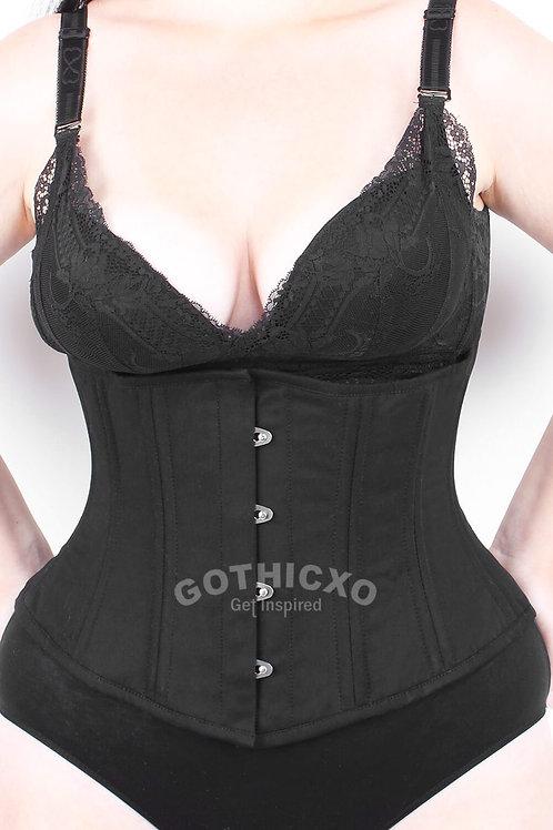 Gothicxo Black Gothic Cotton Underbust Corset