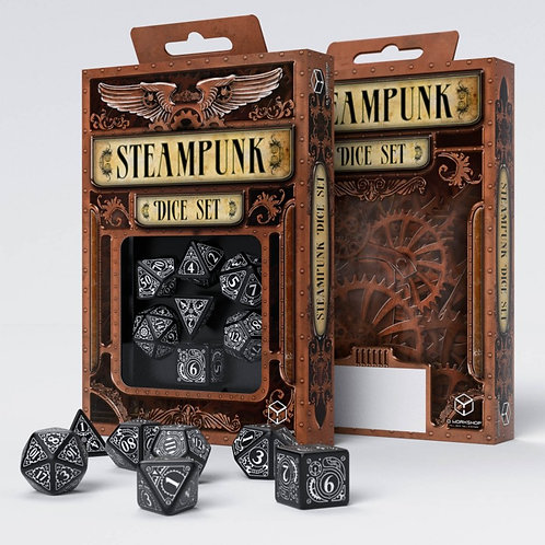 Steampunk Dice Set - Poly 7 Dice Set