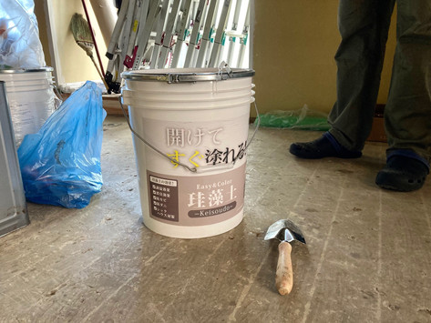 西鶴賀 壁塗りワークショップ