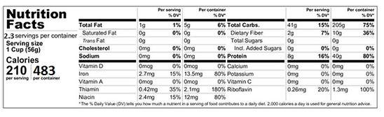 Chowmein Saver Nutrition Sample .JPG