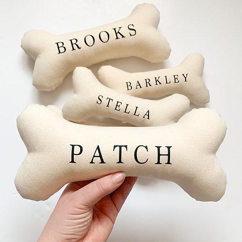 100% Handmade Personalised LARGE Dog Bone Toy
