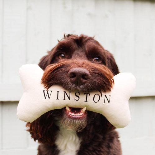 100% Handmade Personalised Dog Bone Toy