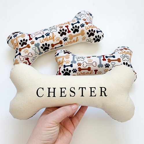 WOOF Personalised Dog Bone