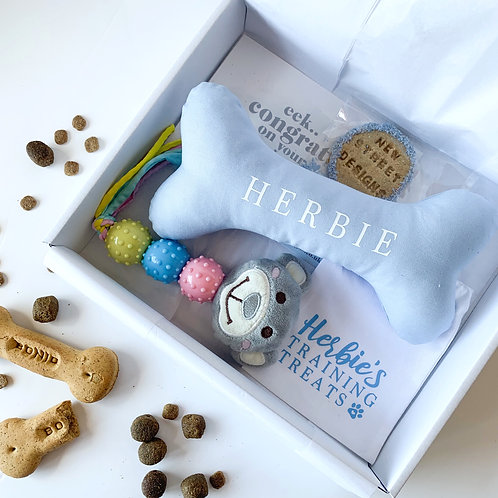 Blue Puppy Gift Box