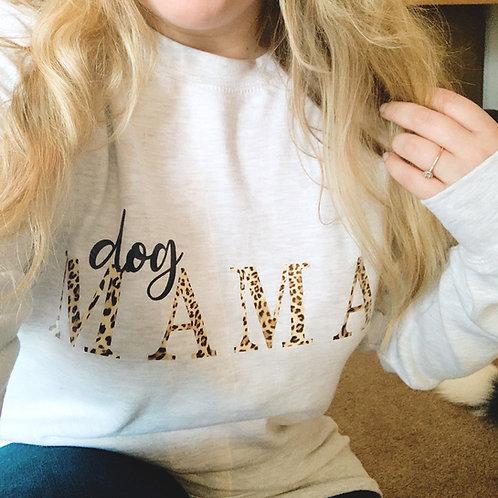 DOG MAMA Leopard Sweatshirt