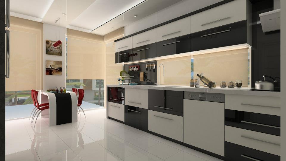 iç mekan tasarımı. mutfak.