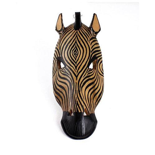 Kenya Wood Carved Zebra Mask
