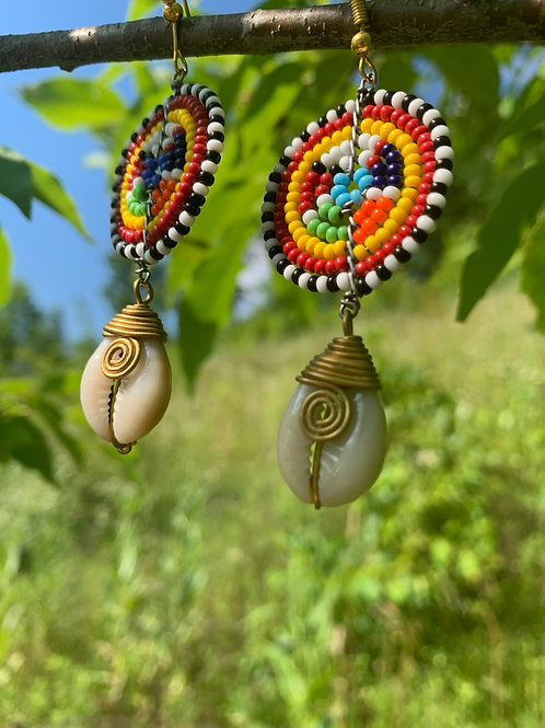 Traditional Beaded Earrings