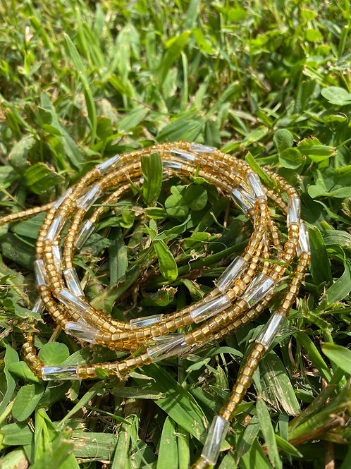 Clearly Gold African Waist Beads