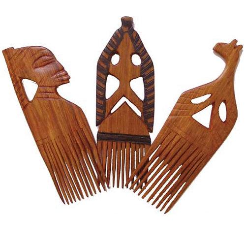 Senegal Carved Wooden  Comb