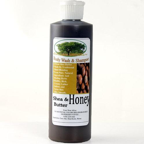 Shea Butter & Honey Bodywash/Shampoo