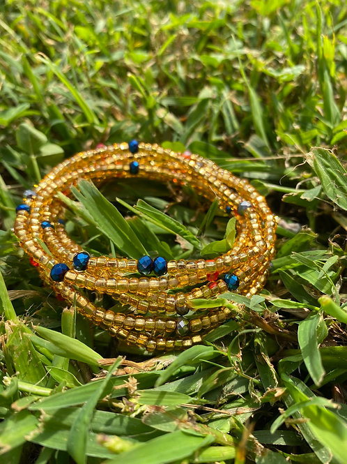 Royal & Gold Waist Beads