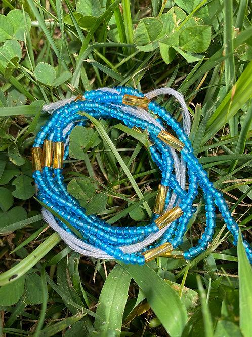 Baby Blue African Waist Beads