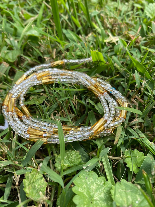 Icy Gold African Waist Beads