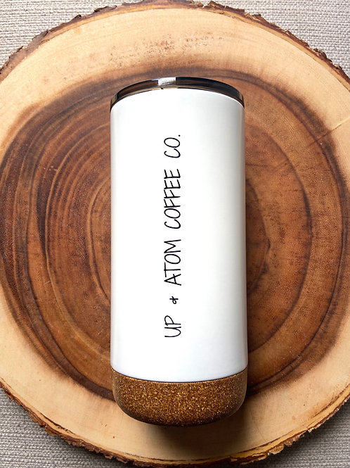 White Cork Bottom Tumbler 16oz