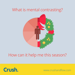 Mental contrasting-- it could help with the holiday blues.