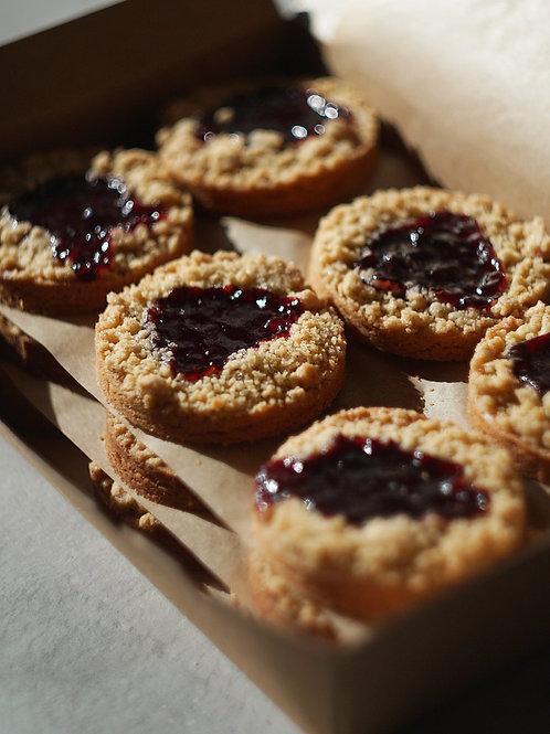 Rhubarb & Raspberry Jam cookies