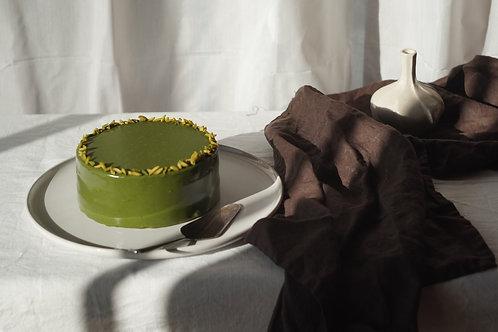 PISTACHIO, MATCHA & LIME CAKE