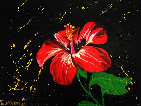 在黑夜中绽放的花朵