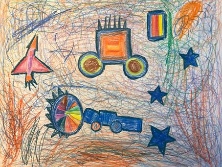 Rex 是一个5岁的小男生,在他的世界里蓝色,火箭,汽车这都是他的最爱。