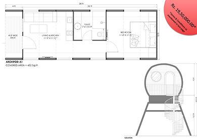 archipod 1BHK modular cottage