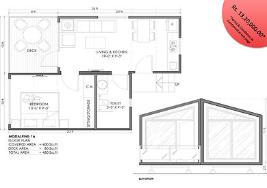 modalpine 1BHK modular cottage